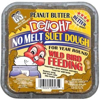 C&s Peanut Butter Delight No Melt Suet Dough 11.75 Oz