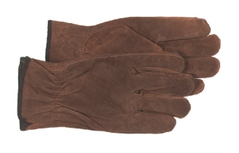 Split Leather Glove Brown Large