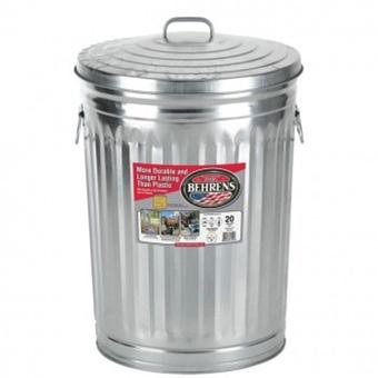 Behrens Galvanized Steel Garbage Pail 20 Gal