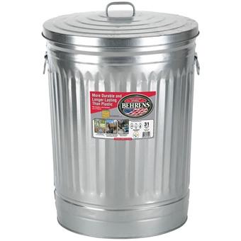 Behrens Galvanized Steel Garbage Pail 31 Gal