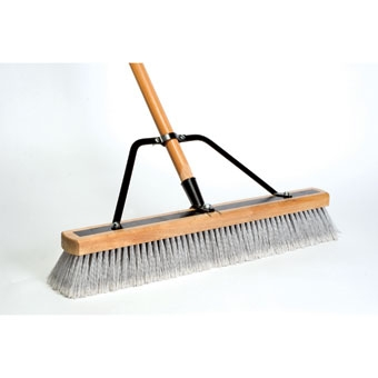 Dqb Contractor Sweep Reinforced Fine Push Broom 24in