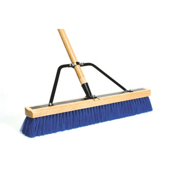 Dqb Contractor Sweep Reinforced Stiff Syn Push Broom 24in