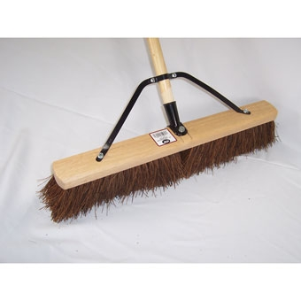 Dqb Contractor Sweep Reinforced Stiff Palmyra Push Broom 24in