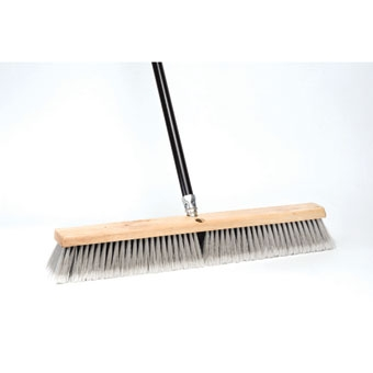 Dqb Floor Sweep Stiff/fine Push Broom 24in