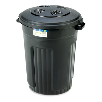Semco Plastic Trash Can With Lid 32 Gal