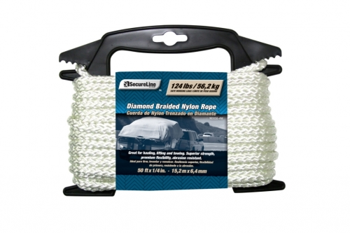 Diamond Braid Nylon Rope 1/4in X 50ft