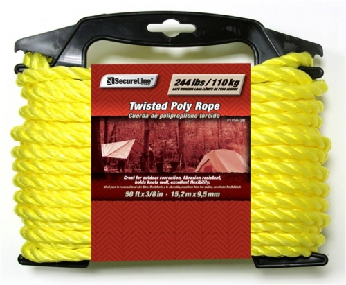 Twisted Poly Rope 3/8in X 50ft