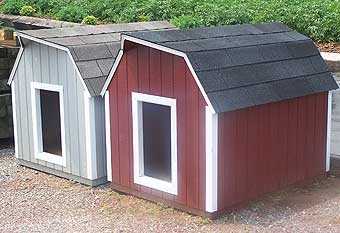 Lancaster Dog House Large Red
