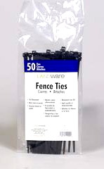 Fence Ties 7in Black