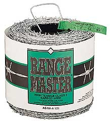 Range Master Barbed Wire 4 Point 15.5ga