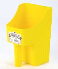 Enclosed Feed Scoop Yellow 3qt