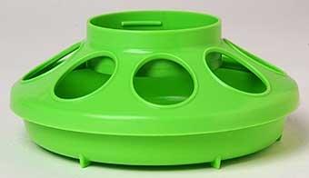 Apple Green Plastic Feeder Base 1qt