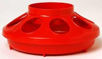 Red Plastic Feeder Base 1qt
