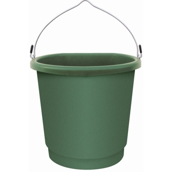 Plastic Heated Flat Back Bucket 3 Gal