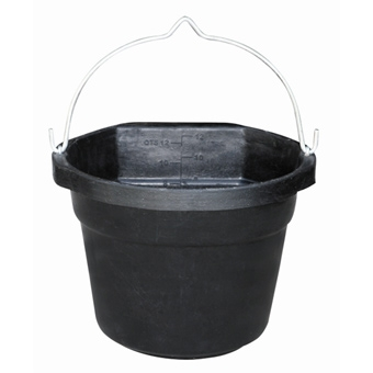 Rubber Heated Flat Back Bucket 12 Qt
