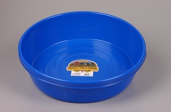 Blue Plastic Feed Pan 3gal