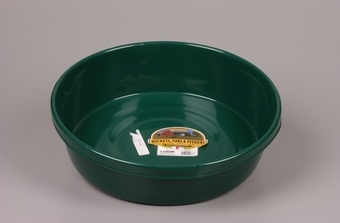 Green Plastic Feed Pan 3gal