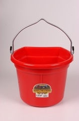 Duraflex Flat Back Bucket Red 22 Qt
