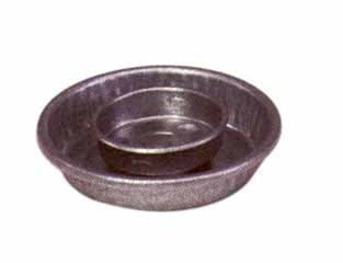 Galvanized Jar Waterer Base Quarter