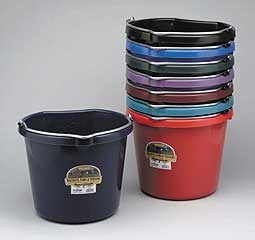 Flat Back Bucket Burgandy 20 Qt