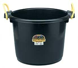 Duraflex Bushel Muck Tub Black 70 Qt