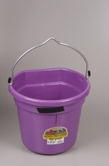 Duraflex Flat Back Bucket Purple 20 Qt