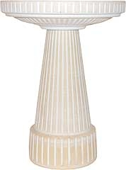 Universal Birdbath Top Dove White 17in X 3.75in