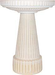 Universal Birdbath Pedestal Dove White 19.5in