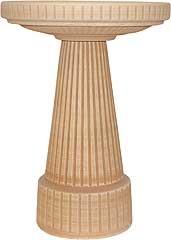 Universal Birdbath Pedestal Loam Brown 19.5in