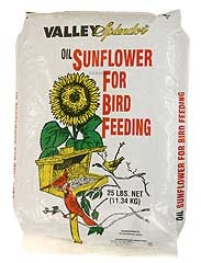 Valley Splendor Black Oil Sunflower Seed 25lb