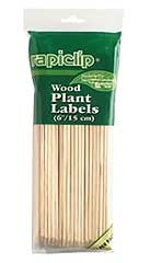 Rapiclip Wood Plant Labels 6in
