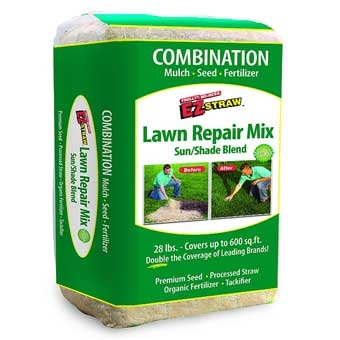 Rhino Ez Straw Lawn Repair Mix Sun/shade 28lb