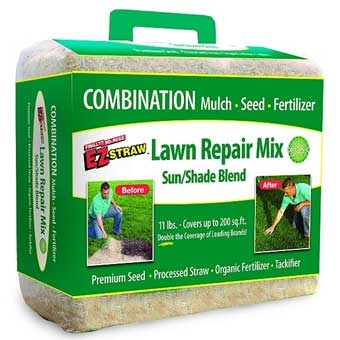 Rhino Ez Straw Lawn Repair Mix Sun/shade 11lb