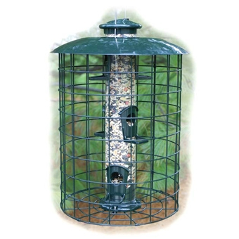 Woodlink Caged 6 Port Seed Tube Bird Feeder