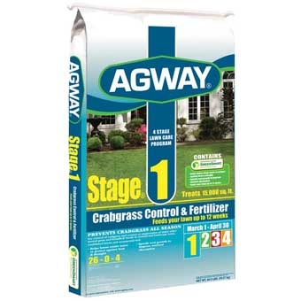 Agway Stage 1 Crabgrass Control & Fertilizer 26-0-4 5m