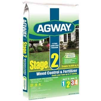 Agway Stage 2 Weed Control & Fertilizer 27-0-4 15m