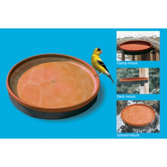All-seasons 3-in-1 Heated Birdbath Terra Cotta