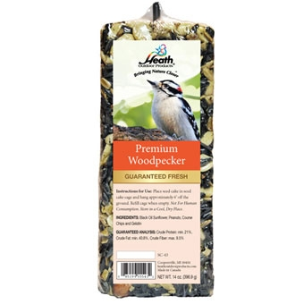 Heath Premium Woodpecker Bar Seed Cake 14 Oz