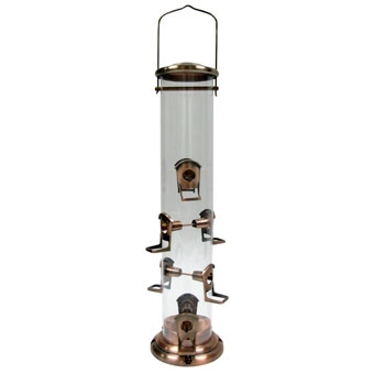 Woodlink Brushed Copper Mega Tube Bird Feeder