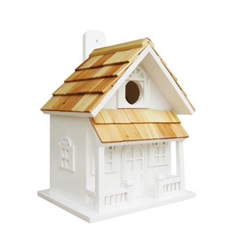 Home Bazaar Country Cottage Birdhouse White