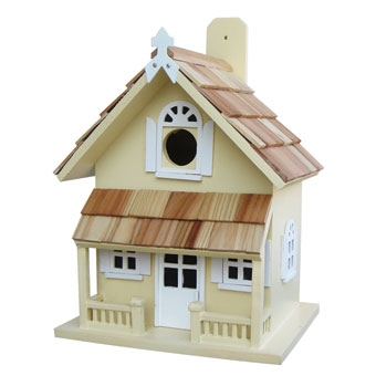 Home Bazaar Victorian Cottage Birdhouse Yellow