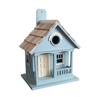 Home Bazaar Pacific Grove Birdhouse Blue With Yellow
