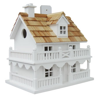 Home Bazaar Novelty Cottage Birdhouse White