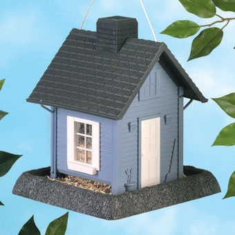 North States Cottage Birdfeeder Blue