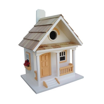 Home Bazaar Peaches N' Cream Cottage Birdhouse