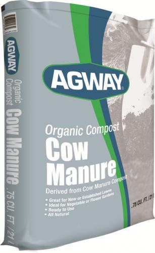 Agway Organic Compost Cow Manure .75 Cf