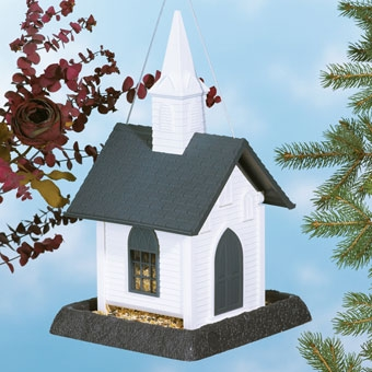 North States Church Birdfeeder White