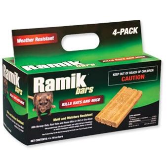 Ramik Bars Kills Rats And Mice 4 Pk 16 Oz