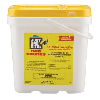Just One Bite Ii Bait Chunks Rat & Mouse Killer 8 Lb