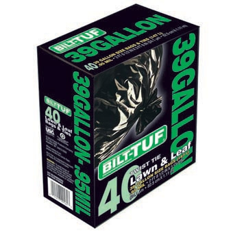 Bilt-tuf Lawn & Leaf Bags With Ties 39gal 40ct